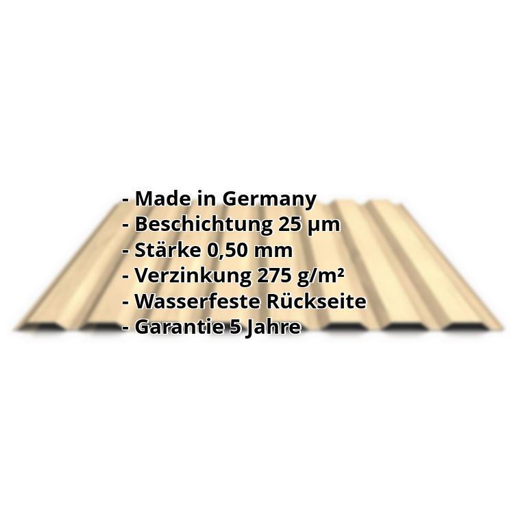 Sehr Trapezblech PS20/1100TW | 35 µm Strukturpolyester Wand | Stahl 0 KZ08