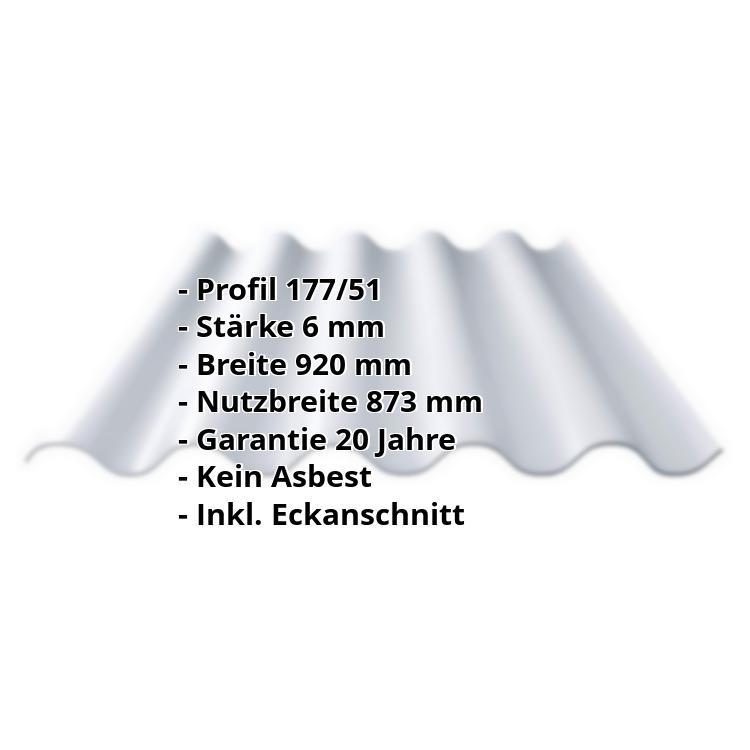 Relativ Faserzement Wellplatte Europa Profil 5 Naturgrau JA32