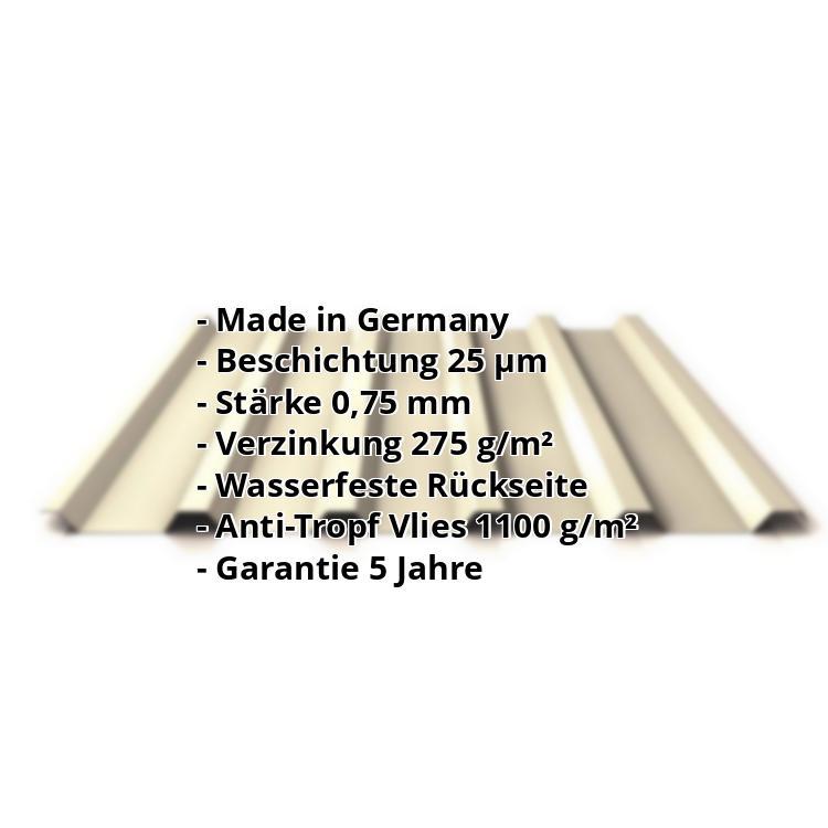 Beschichtung 25 /µm Trapezblech Profil PS35//1035TR St/ärke 0,40 mm Profilblech Material Stahl Farbe Kupferbraun Dachblech