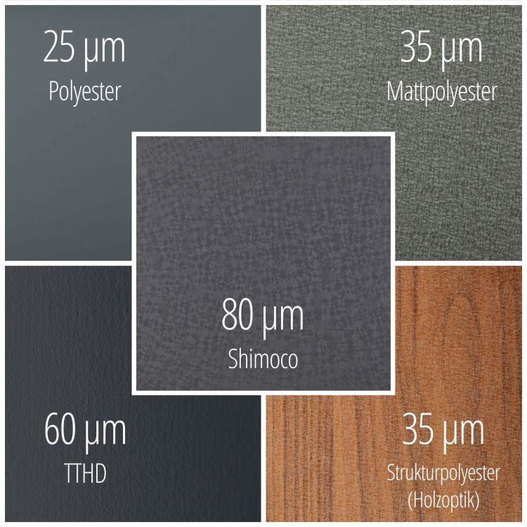 Trapezblech PS35/1035TW | 25 µm Polyester | Wand | Stahl 0,75 mm | 1015 - Hellelfenbein