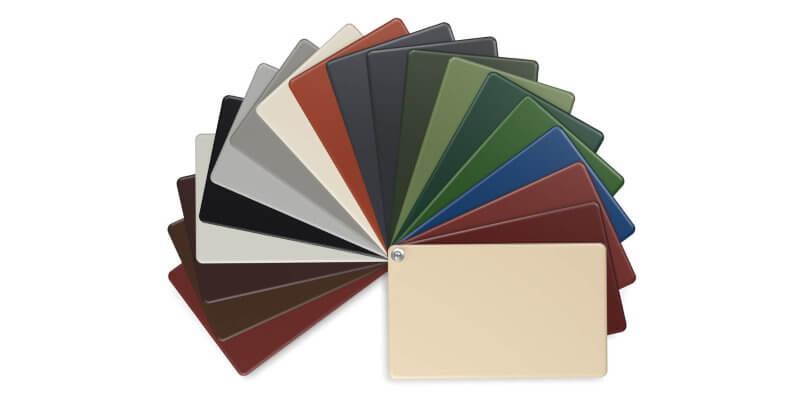Die Farbtabelle für alle Weckman Profilbleche