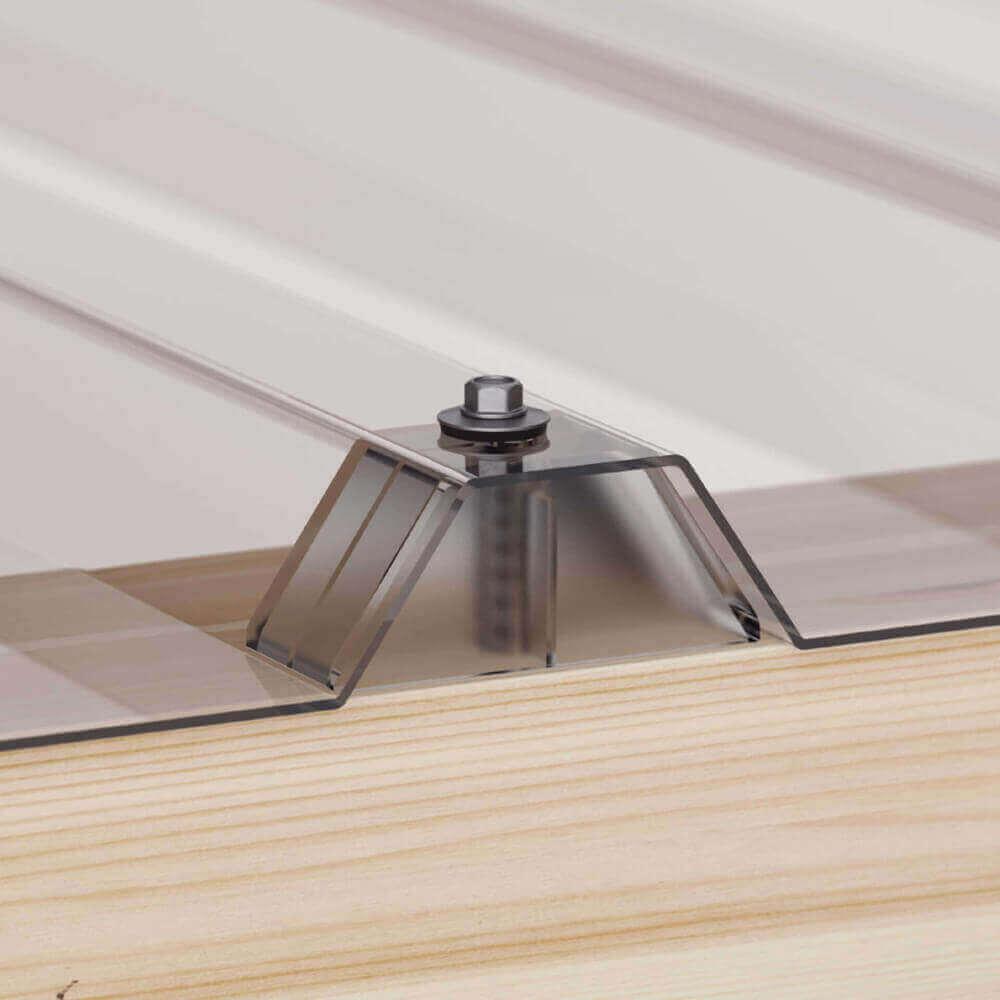 pvc wellplatte 76 18 2 5 mm glasklar wabenstruktur. Black Bedroom Furniture Sets. Home Design Ideas