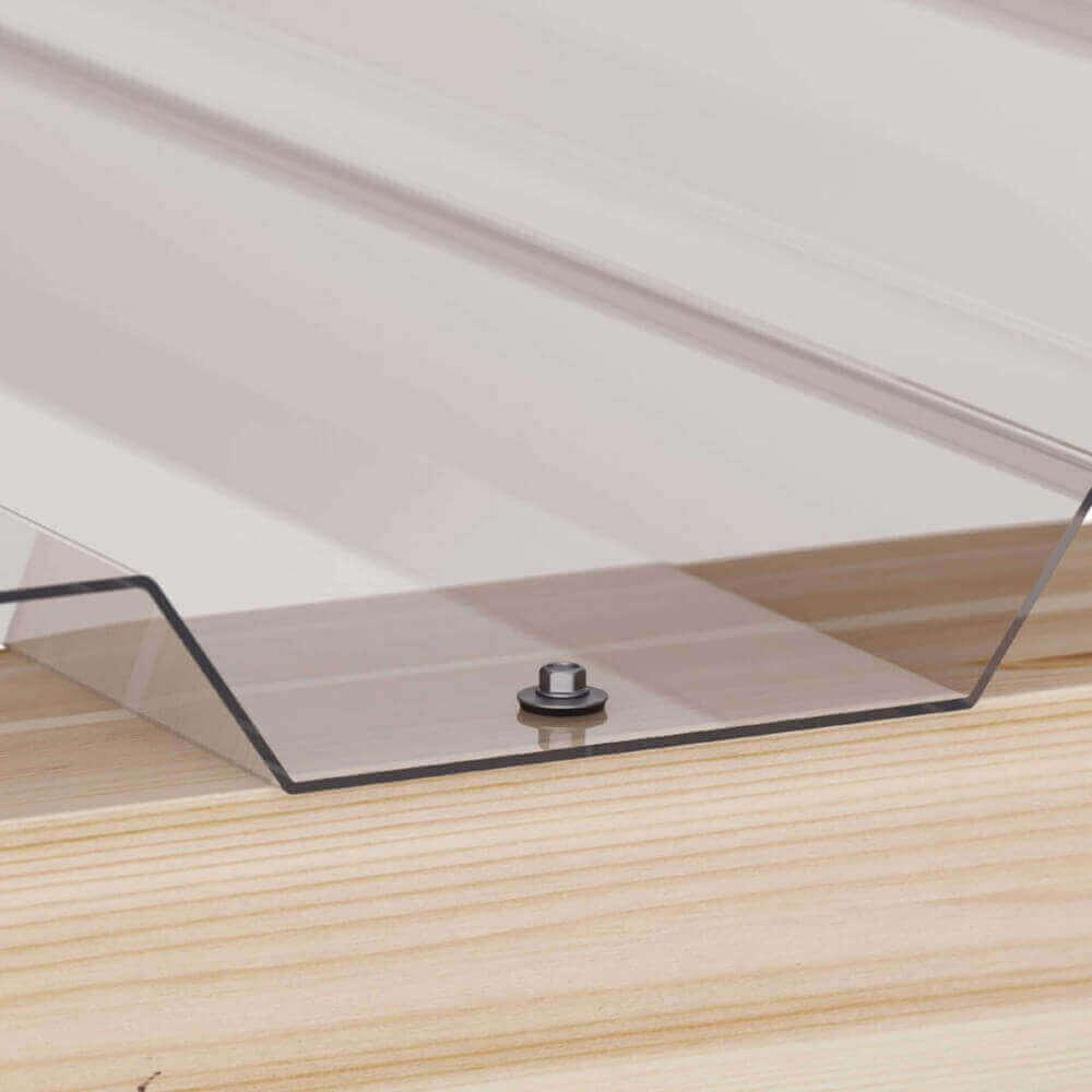 pvc spundwandplatte 20 1100 1 4 mm klarbl ulich wand. Black Bedroom Furniture Sets. Home Design Ideas